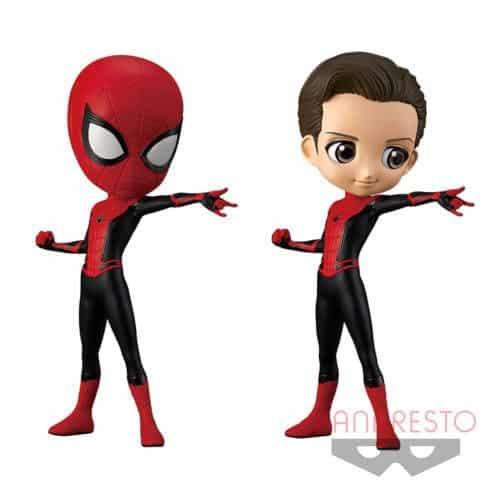 Q POSKET SPIDER MAN MARVEL BANPRESTO (2 FIGURINES)