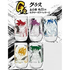 5 VERRES ICHIBAN KUJI RISING FIGHTERS SET OF 5 BANDAI DRAGON BALL SUPER