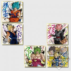 5 SHIKISHI ICHIBAN KUJI RISING FIGHTERS SET OF 5 BANDAI DRAGON BALL SUPER