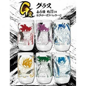 VERRES ICHIBAN KUJI RISING FIGHTERS SET OF 6 BANDAI DRAGON BALL SUPER