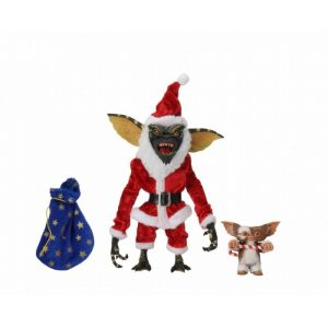 FIGURINE NECA GREMLINS ULTIMATE SANTA STRIPE AND GIZMO