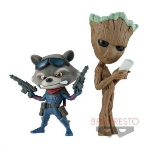 FLUFFY PUFFY GROOT ROCKET MARVEL BANPRESTO (2 FIGURINES) BANDAI